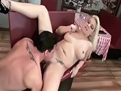 Spouse receives chap to fuck his hawt blond wife in restaurant