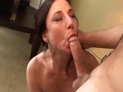 True MILF Karen Kourgar Takes Young Cock