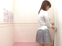 Pretty dressing room girl impresses with horny nudity