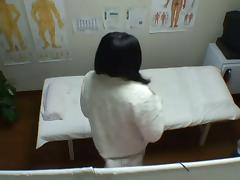 Busty Asian getting the deep vaginal massage on voyeur cam