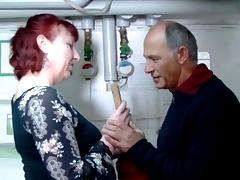 German mature redhead housewife and the plumber - Amanda tube porn video