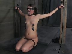 Blindfolded, BDSM, Blindfolded, Brunette, Fucking, Tied Up