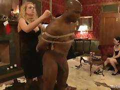 Tied up girl gets pinched and then whipped painfully