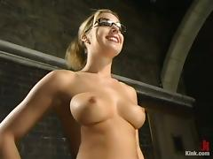 Blonde Beauty Hollie Stevens Throat and Pussy Fucked in BDSM Video porn tube video