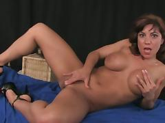Busty milf horny solo toy time