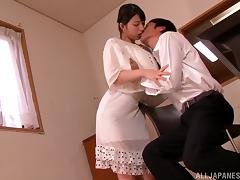Nice Ai Uehara gets her vagina licked and then drilled