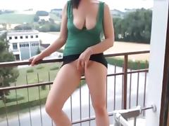 Balcony, Amateur, Chubby, Masturbation, Outdoor, Strip