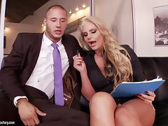 Curvaceous Phoenix Marie gets pounded by her coworker tube porn video