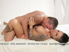 Flawless brunette tattooed babe Christy Mack banged tube porn video