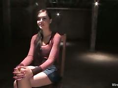 Hot Sasha Grey gets humiliated and toyed in a basement tube porn video
