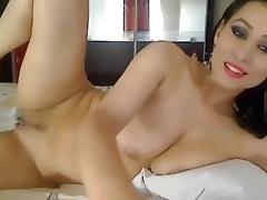 Nice girl stripping on cam show