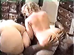 Dated But Still Hot Interracial In-Home Orgy