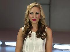 Masturbating Blonde Dallas Blaze Gets Ass Fucked by Machine porn tube video