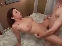 Young Couple Have Passionate Sex With Cream Pie