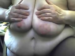 Crazy Grandma masturbating witn dildo and squirting tube porn video