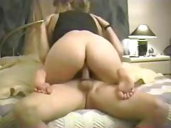 fat arsed blonde riding cock