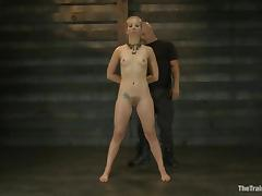 Passionate blonde sucks a cock and gets fucked by her master