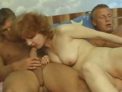 mature gangbang by three cocks