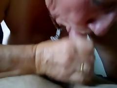 Granny sucks and swallows tube porn video