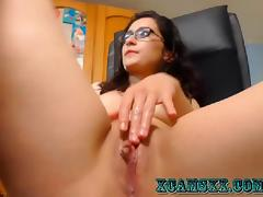 Home video girl is trying to repeat what he saw