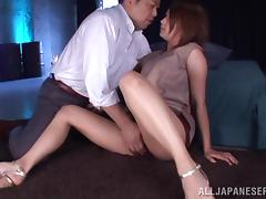 Playful and charming vixen Miku Hasegawa makes her man feel so good