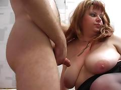 Redhead plump stepmom with hairy pubis and guy porn tube video