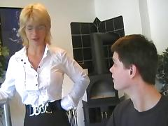 German MILF Finishes Young Man With A Blowjob tube porn video
