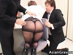 Sexy asian brunette Meguru with big tits