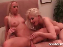 Dick starved blonde party hoes having a threesome