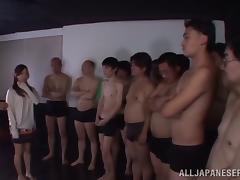 Slim Yukina Momota gets fucked by several guys in turn