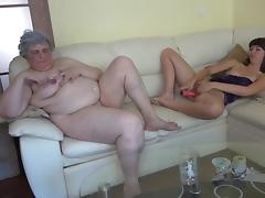 old and young lust in the same couch tube porn video