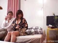 Cock Riding and Sucking Before Missionary and Doggy Fucking for Asian tube porn video