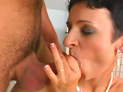 Bedroom, Bedroom, Blowjob, Brunette, Facial, HD