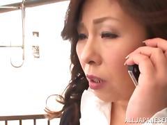 Japanese Old and Young, Asian, Chubby, Cowgirl, Cum in Mouth, Cumshot