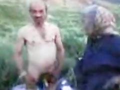 Grandpa and Grandma Outdoor porn tube video