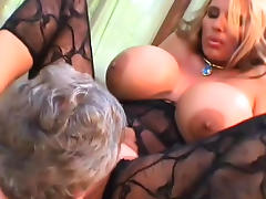 Bodystocking, Blonde, Bodystocking, Facesitting, HD, MILF