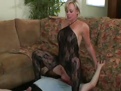 Blowjob, Ass, Ass Licking, Blonde, Blowjob, Bodystocking
