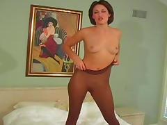 Bedroom, Ass, Bedroom, Brunette, Masturbation, Pantyhose