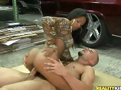 Latina, Blowjob, Couple, Cowgirl, Doggystyle, Handjob