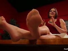 Cliff Adams fucks Krissy Lynn and makes her give him a footjob tube porn video