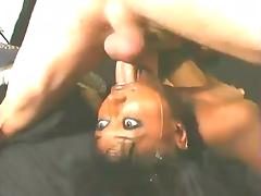 Black Girl Gets Fucked In The Mouth Hard