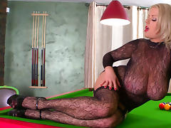 Bodystocking, Big Tits, Blonde, Bodystocking, Lingerie, Masturbation