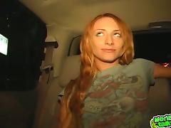 Nice babes gives hot blowjob to taxi drivers for money