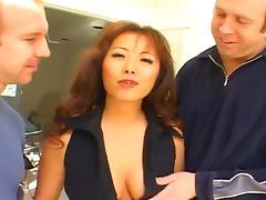 Hot Asian MILF (Anal Threesome) tube porn video