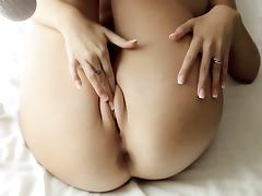 sexy solo brunette fingering vagina