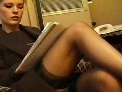 Feet, Blonde, Feet, Fetish, Nylon, Stockings