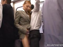 Public, Asian, Bus, Handjob, Japanese, Public