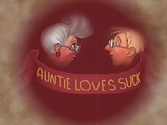 Auntie loves to suck! Animation! tube porn video