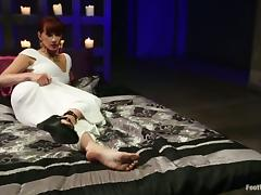 Foot Fetish Action and Footjobs by Maitresse Madeline