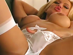 Blonde, Blonde, Masturbation, Panties, Sofa, Solo